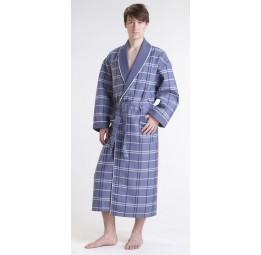 Мужской вафельный халат NS Лайт(10020 серый)