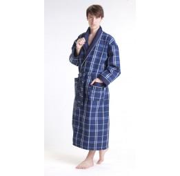 Мужской вафельный халат NS Лайт(10020 синий)