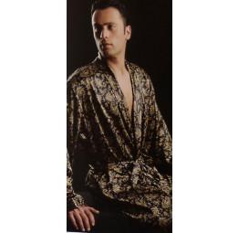 Шелковый набор для мужчин Leonardo(халат и пижамы)