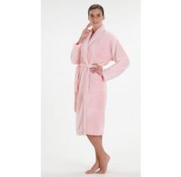 Легкий и пушистый халат из велсофта (800 нежно-розовый)