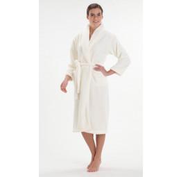 Легкий и пушистый халат из велсофта (800 нежно-кремовый)