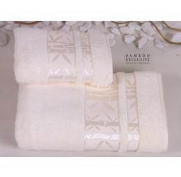 Махровое полотенце из бамбука Bamboo Macro Exclusive(белое)