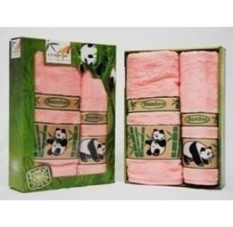 Комплект бамбуковых полотенец PANDA Plus в подарочной коробке(4 цвета)