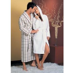 Мужской вафельный халат NS Лайт(10020 светло-кремовый)