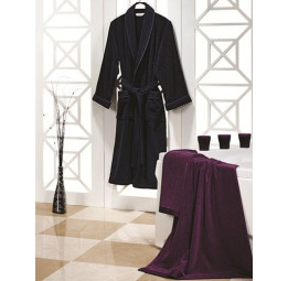 Мужской махровый набор Classic: халат + 2 полотенца (ESC)