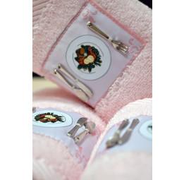 Стильные махровые салфетки для кухни Kitchen Up (розовые)