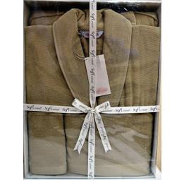 Мужской махровый набор Lord's. Халат и 2-а полотенца(ЕМ20351/1)