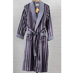 Мужской шелковый халат Dark grey(9015)