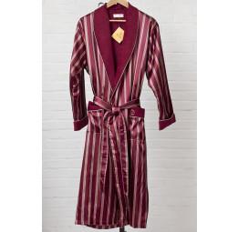 Мужской шелковый халат Dark red(9015)