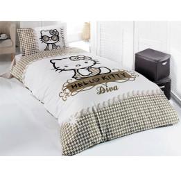 Детское постельное белье Hello Kitty White Diva