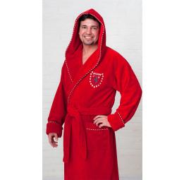 Махровый халат из бамбука Milano Style(ЕО137 Red)