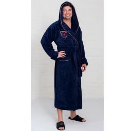 Махровый халат из бамбука Milano Style(EO137 Blue)