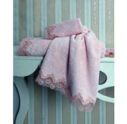 Махровое полотенце с кружевом Angelik (EMD)