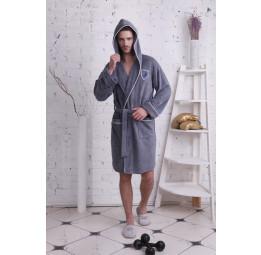 Спортивный укороченный халат из бамбука Buffalo SPORT(PECHE MONNAIE France 905gray)