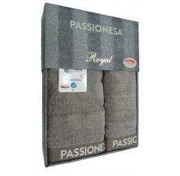 Шикарный комплект полотенец Passionesa Royal (меланж-бежевый)