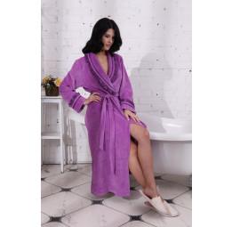 Шикарный велюровый халат HollyWood Lila(805)