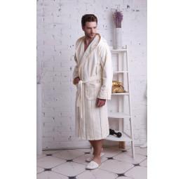 Махровый халат с капюшоном TIGER(EP3576 крем)