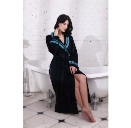 Шикарный велюровый халат HollyWood Emerald(805)