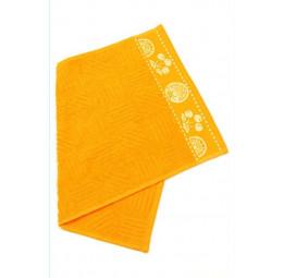 Кухонное махровое полотенце JAKKARD апельсиновый