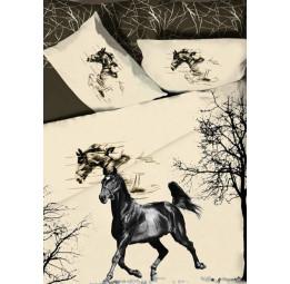 Коллекция в винтажном стиле. Сатиновое постельное белье WILD HORSE