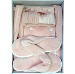 Бамбуковый набор для сауны класса Люкс Sauna Skirt's. Порео, тапочки и махровая повязка. 8-мь цветов