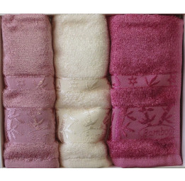 Кухонные бамбуковые полотенца - салфетки Bamboo Aura(3-и штуки). Подарочная коробка.