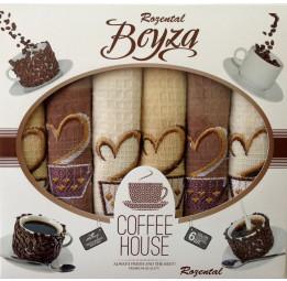 Набор из 6-и вафельных полотенец COFFEE HOUSE(EA 3854 Beyza). Подарочная коробка