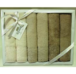Набор махровых полотенец для кухни с хлопковым кружевом. Винтажный стиль Naturel's(ЕMD205)