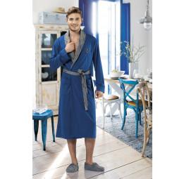 Мужской трикотажный халат 5053(синий)