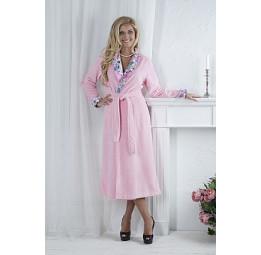 Rozaly (розовый) элегантный бамбуковый халат