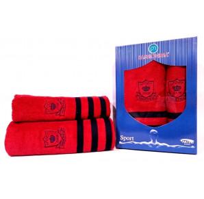 Шикарный комплект полотенец Passionesa Sport(красный)
