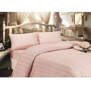 Шикарное постельное белье из сатина с вязаным одеялом - покрывалом JALE'S(EMD roses) -Хит продаж!