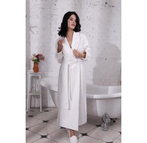 Шикарный велюровый халат HollyWood White(805)